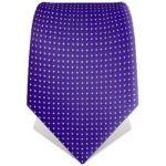 Cravate violette à petits pois blancs