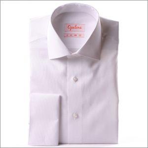 Chemise blanche à poignets mousquetaires tissu oxford
