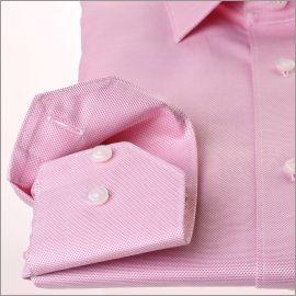 Chemise en tissu natté rose foncé et blanc