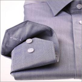 Chemise grise à mini chevrons