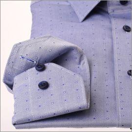 Chemise bleue à pois