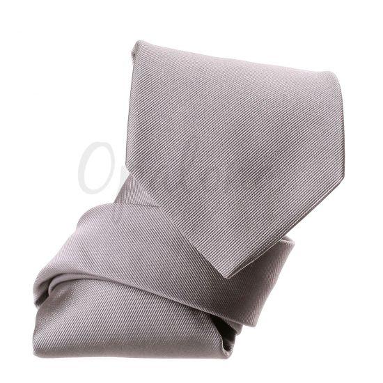 Cravate unie gris clair