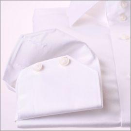 Chemise blanche tissu gabardine