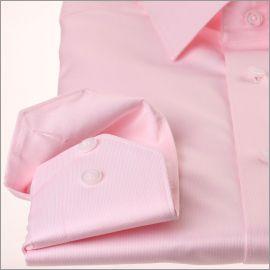 Chemise rose tissu gabardine