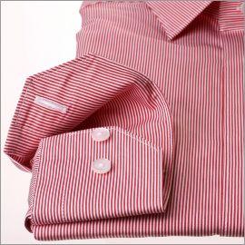 Chemise rayée rouge et blanc