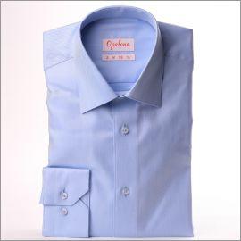Chemise bleu clair, tissu à chevrons