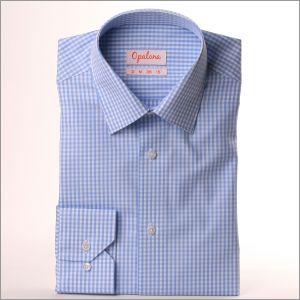 Chemise à carreaux bleu ciel