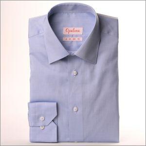 Chemise fin oxford bleu gris