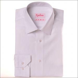 Chemise blanche jacquard à losanges