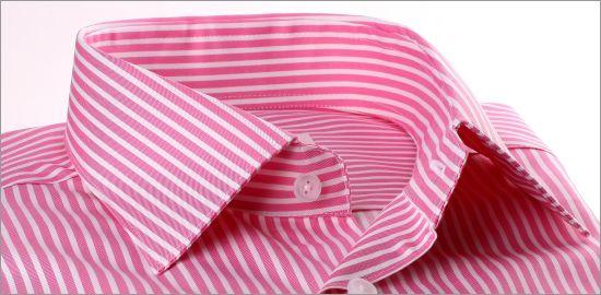 Chemise à rayures blanches et rose foncé