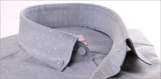 Chemise bleu gris à petits pois