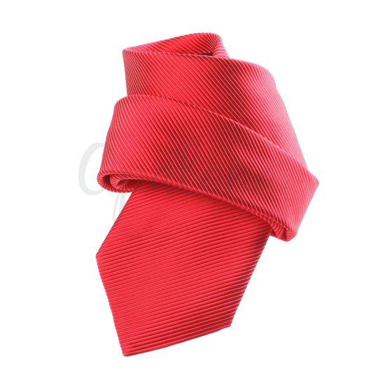 Cravate rouge orangée