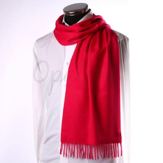 Echarpe en cachemire rouge vif